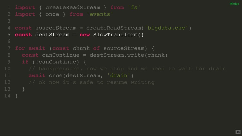 import { createReadStream } from 'fs' import { ...