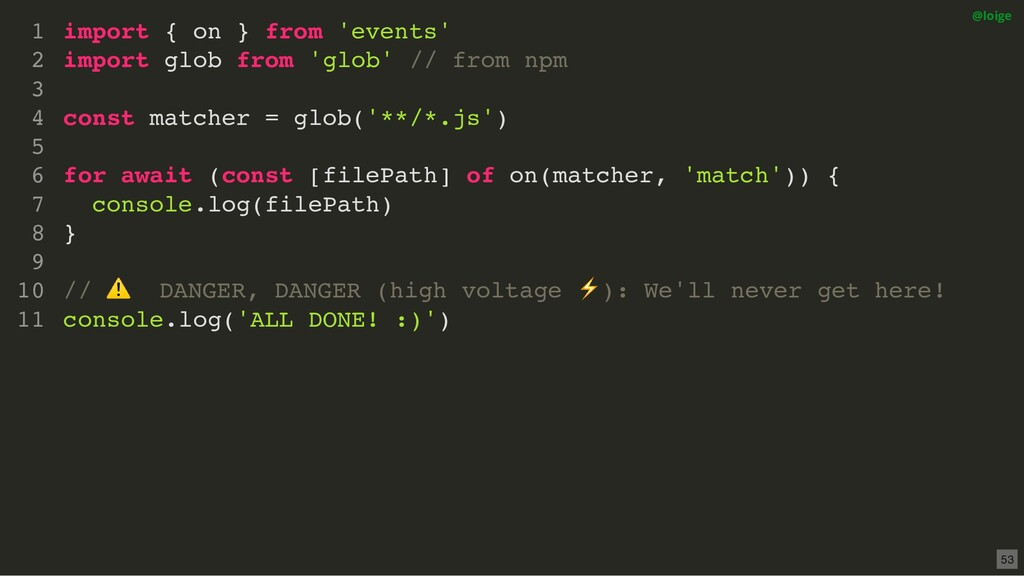 import { on } from 'events' import glob from 'g...
