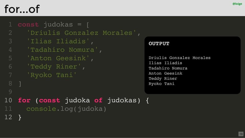 const judokas = [ 'Driulis Gonzalez Morales', '...