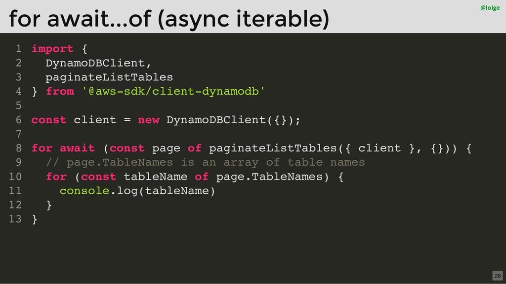 import { DynamoDBClient, paginateListTables } f...