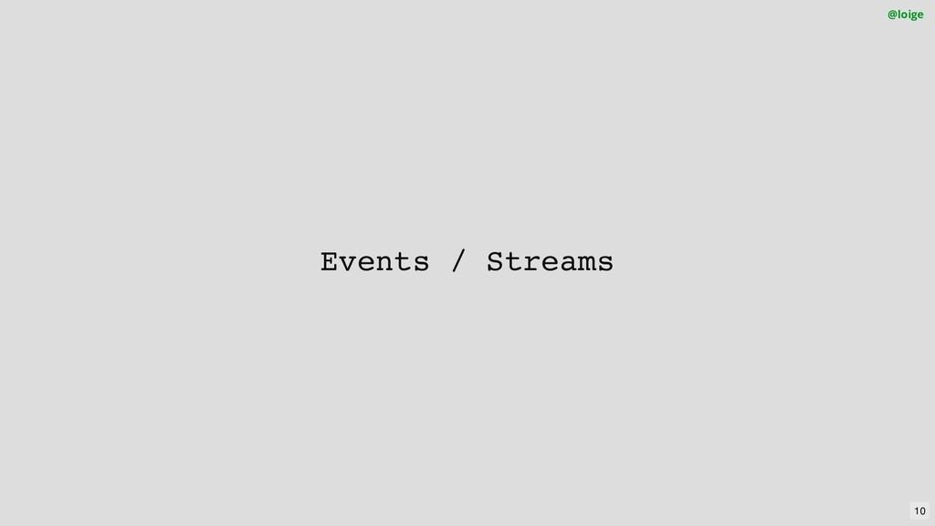 Events / Streams @loige 10