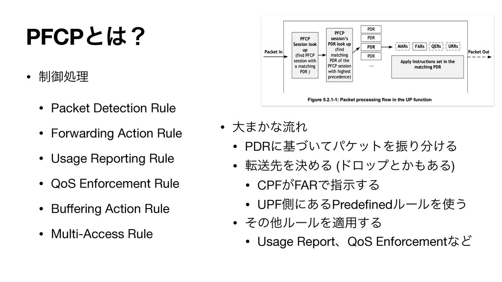 PFCPͱʁ • ੍ޚॲཧ   • Packet Detection Rule  • For...