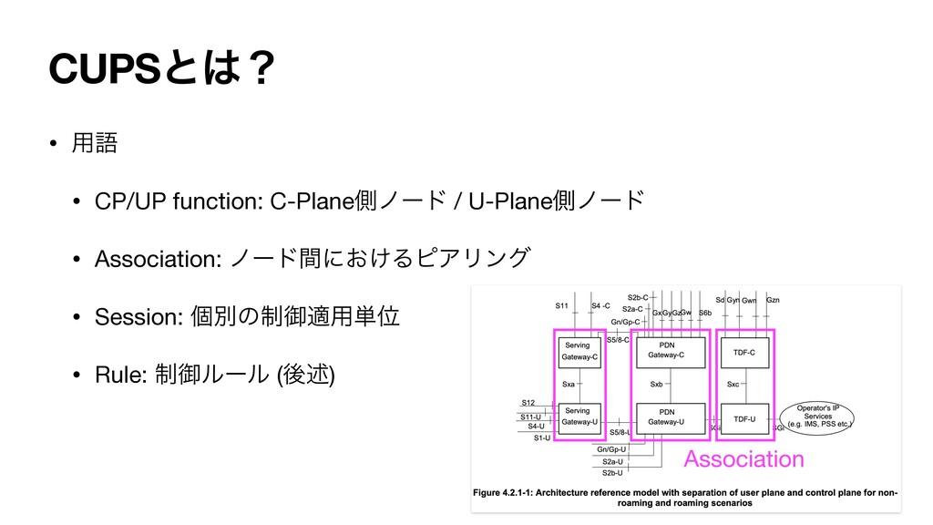 CUPSͱʁ • ༻ޠ   • CP/UP function: C-Planeଆϊʔυ / ...