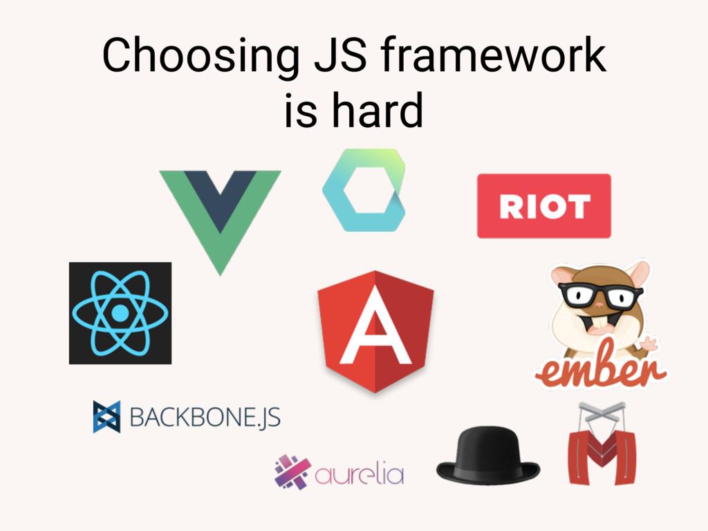 Choosing JS framework is hard