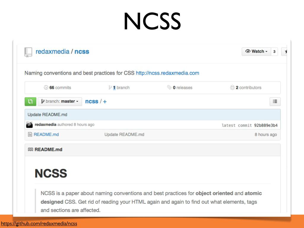 NCSS https://github.com/redaxmedia/ncss