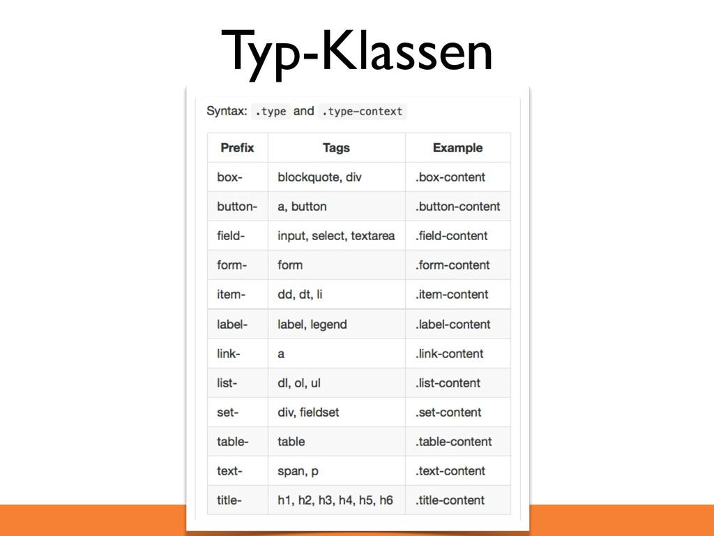 Typ-Klassen