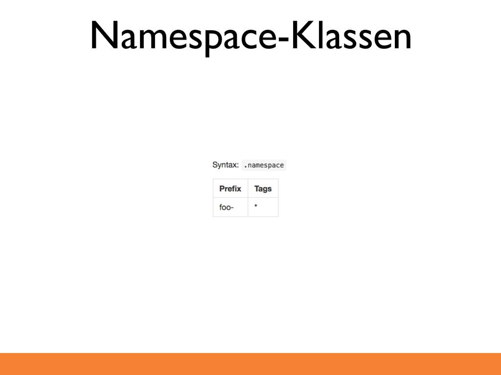 Namespace-Klassen