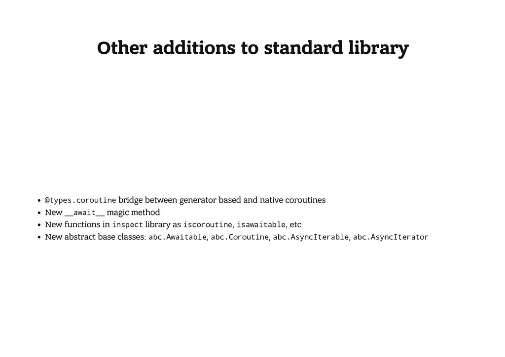 Other additions to standard library @ t y p e s...