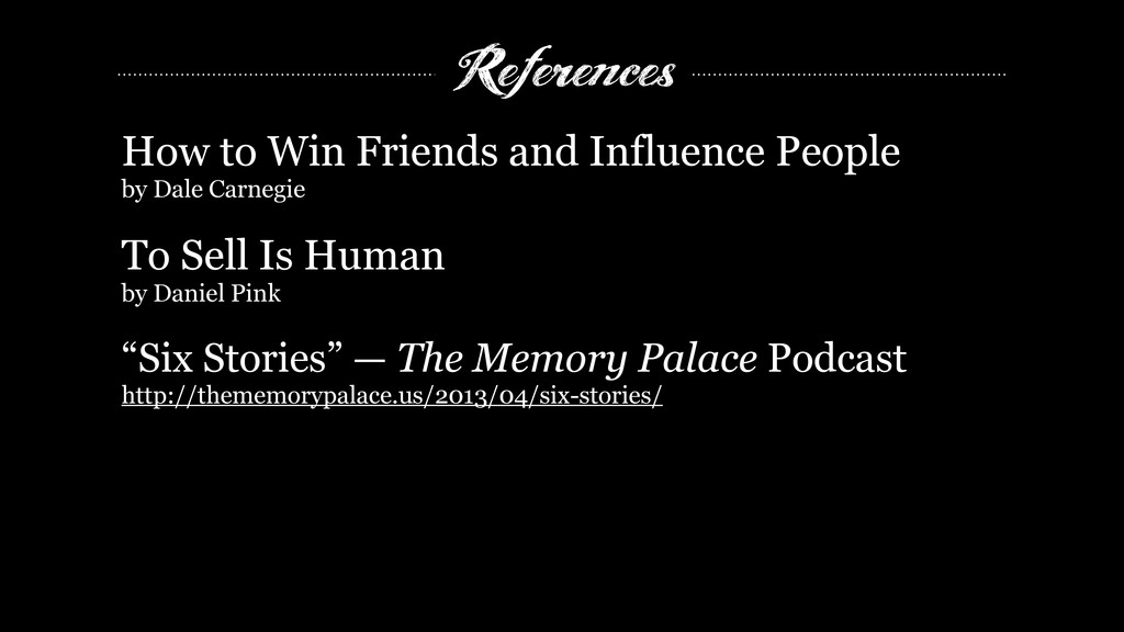 References How to Win Friends and Influence Peo...