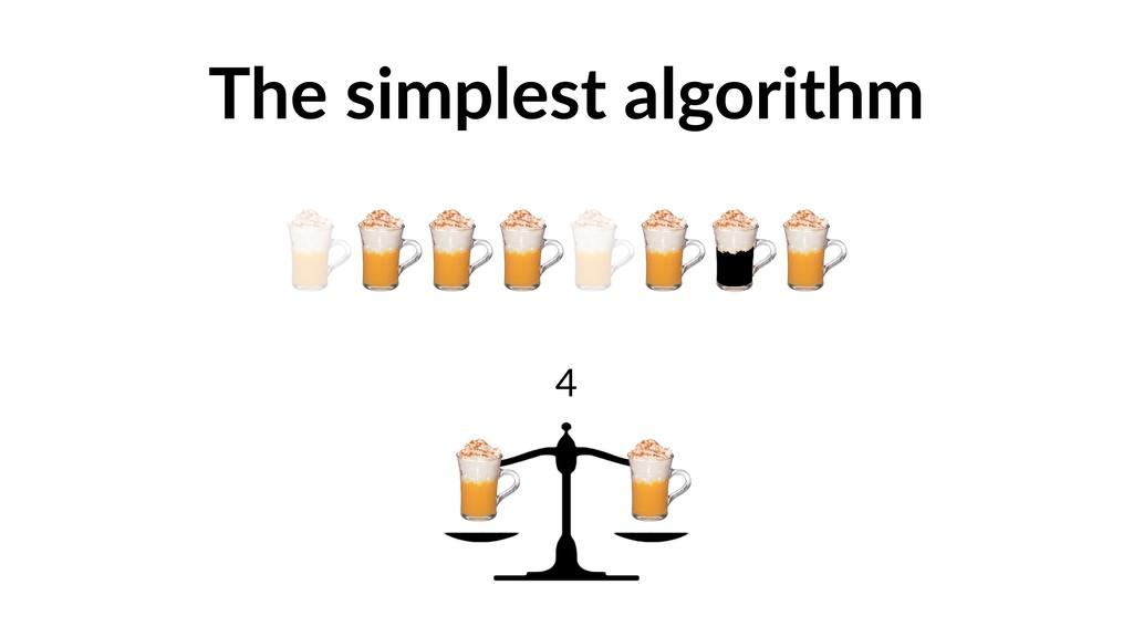 The simplest algorithm 4