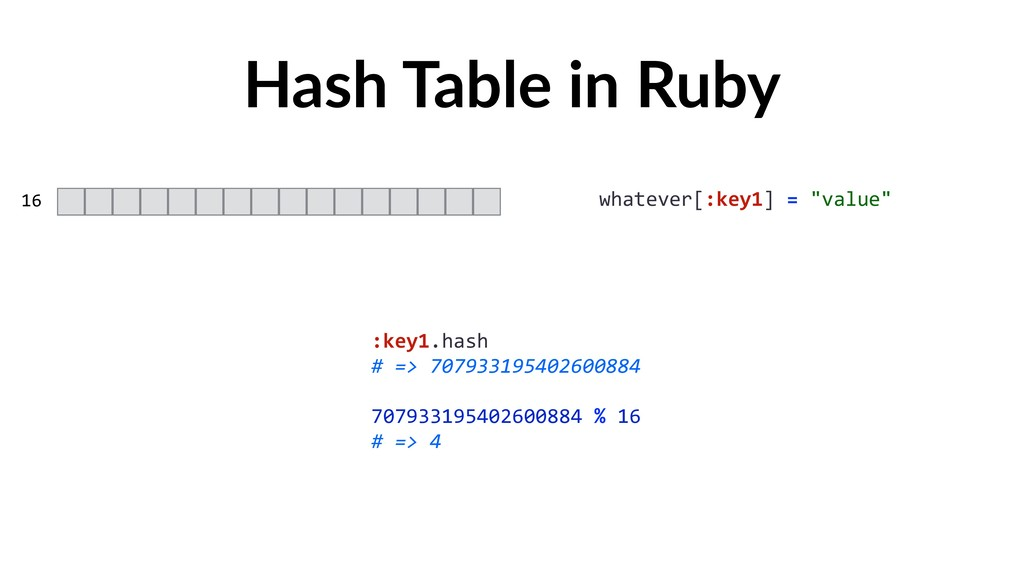 "Hash Table in Ruby 16 whatever[:key1] = ""value""..."