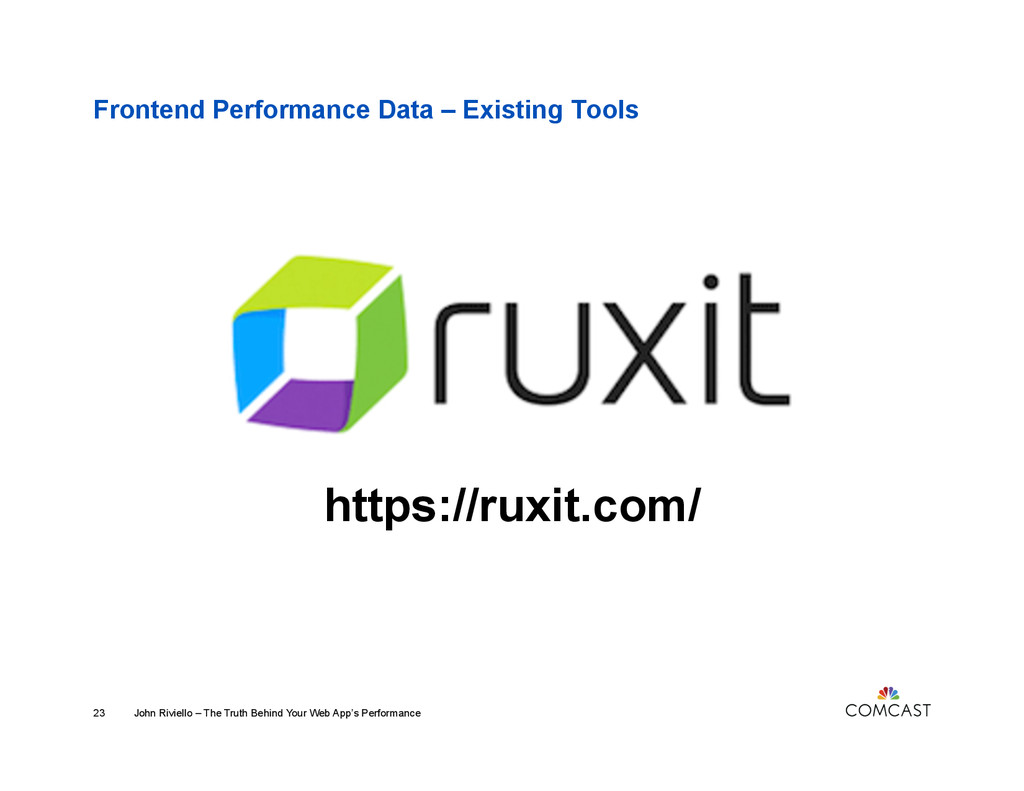 Frontend Performance Data – Existing Tools http...