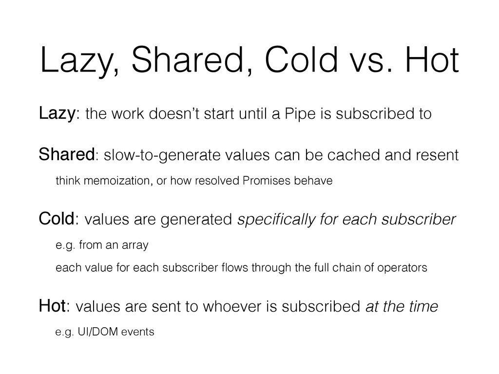 Lazy, Shared, Cold vs. Hot Lazy: the work doesn...
