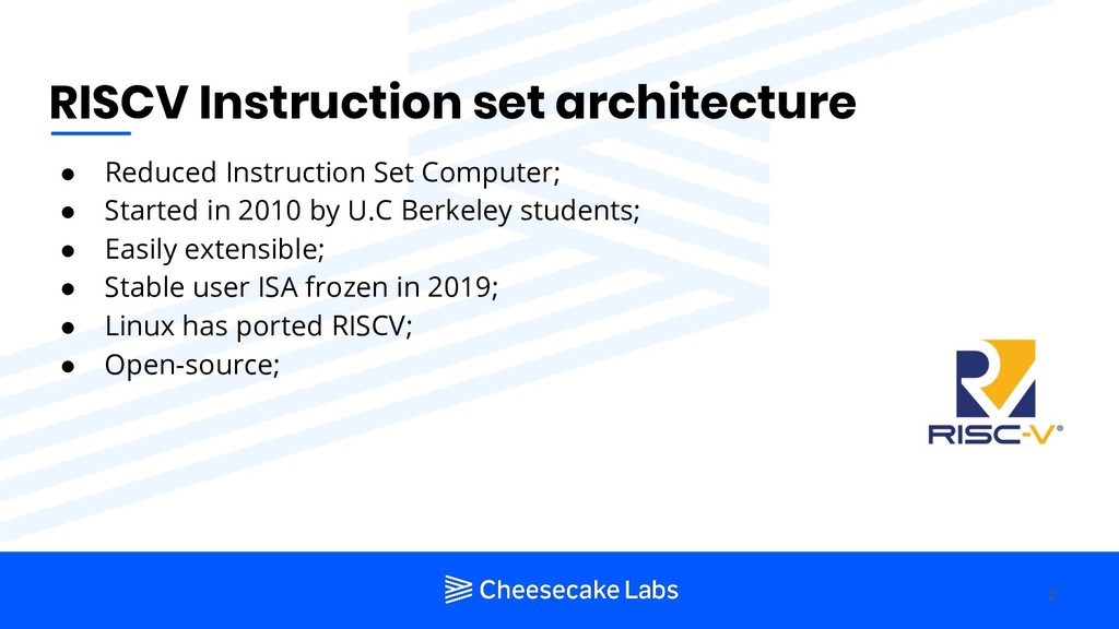 RISCV Instruction set architecture ● Reduced In...