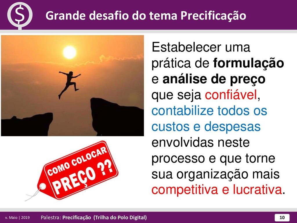 Palestra: Precificação (Trilha do Polo Digital)...