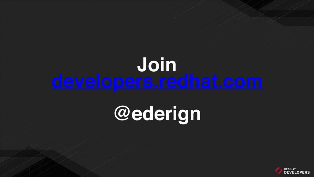 Join developers.redhat.com @ederign