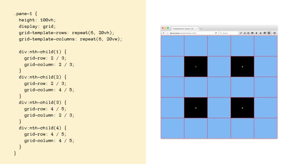 .pane-1 { height: 100vh; display: grid; grid-te...