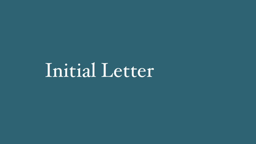 Initial Letter