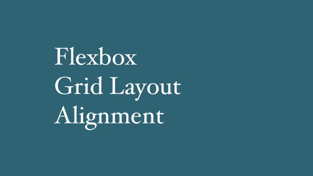 Flexbox Grid Layout Alignment