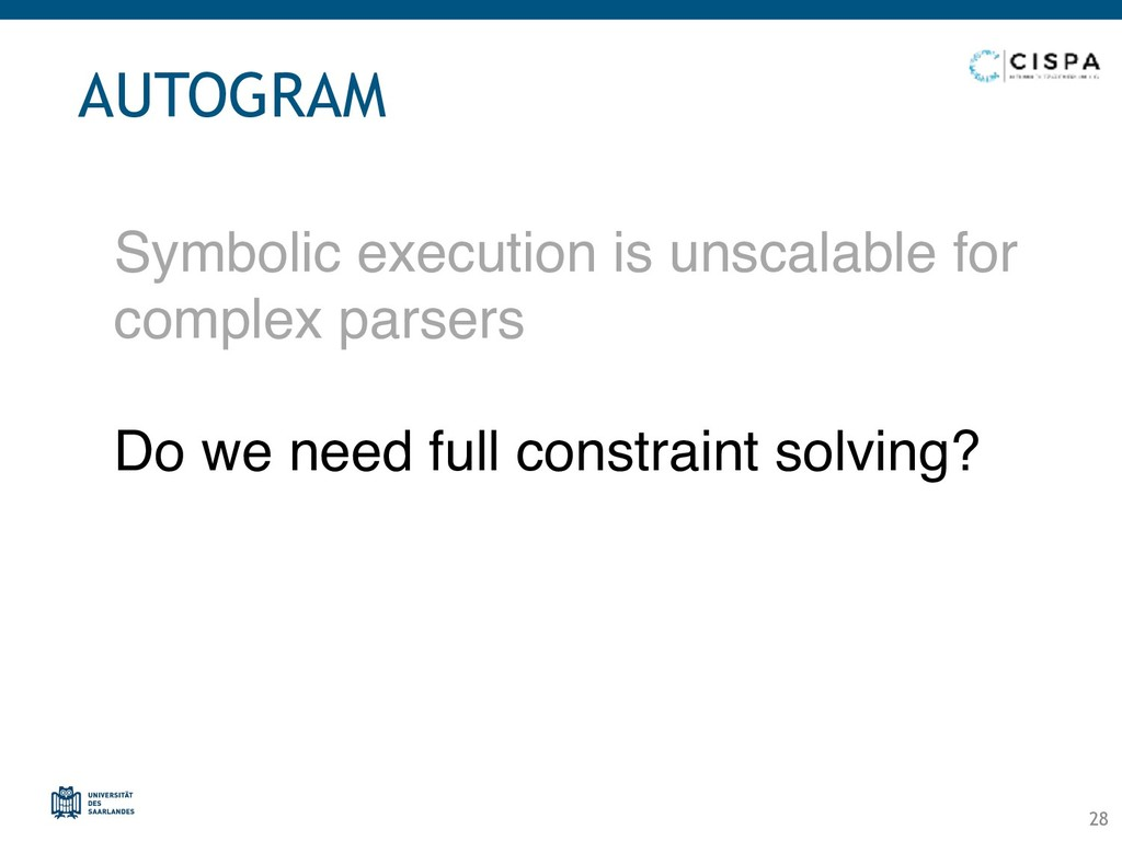 Symbolic execution is unscalable for complex pa...