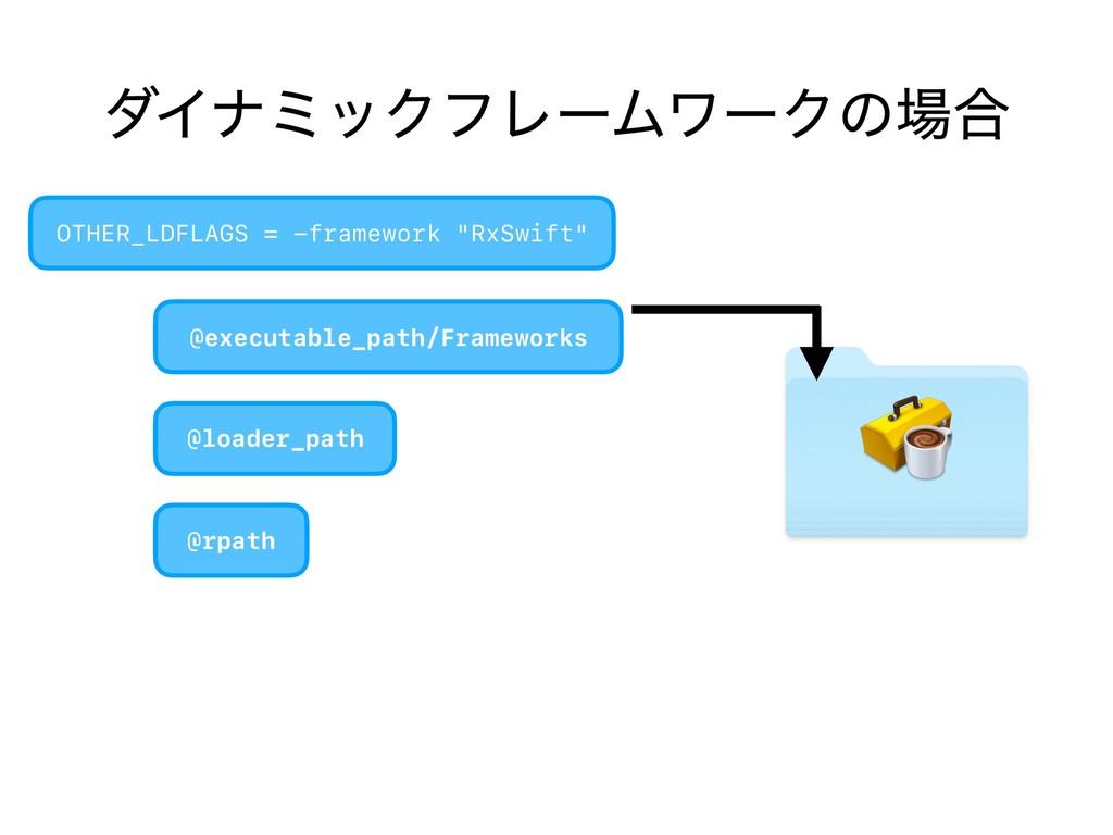 μΠφϛοΫϑϨʔϜϫʔΫͷ߹ @executable_path/Frameworks OT...