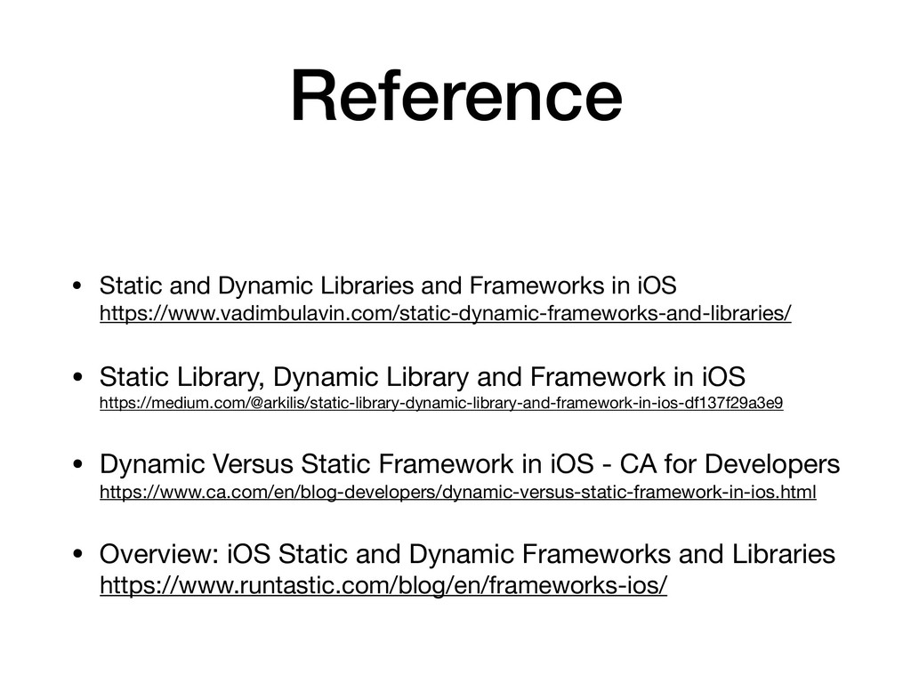 Reference • Static and Dynamic Libraries and Fr...