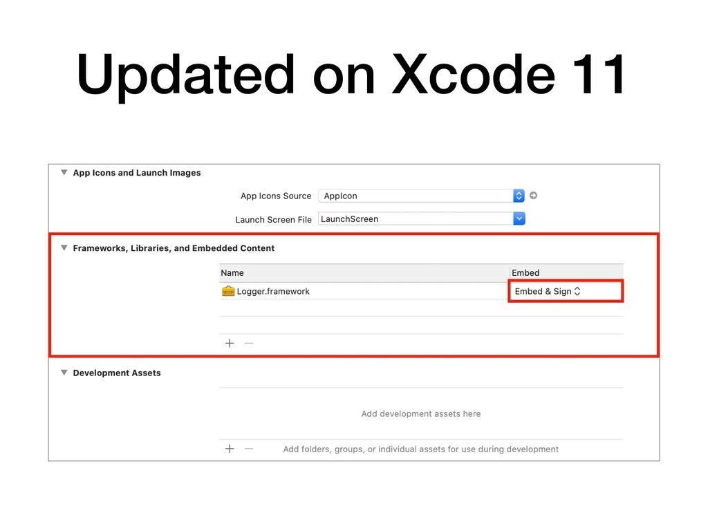 Updated on Xcode 11