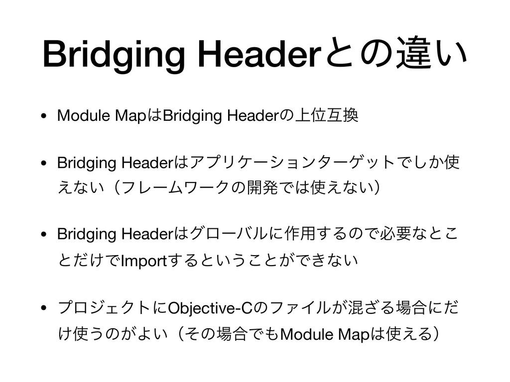 Bridging Headerͱͷҧ͍ • Module MapBridging Heade...