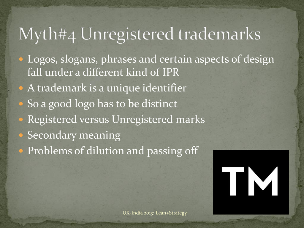  Logos, slogans, phrases and certain aspects o...