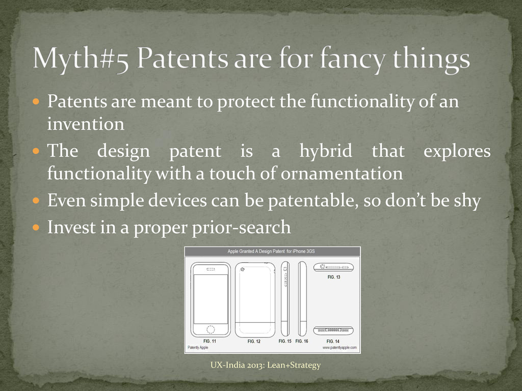  Patents are meant to protect the functionalit...