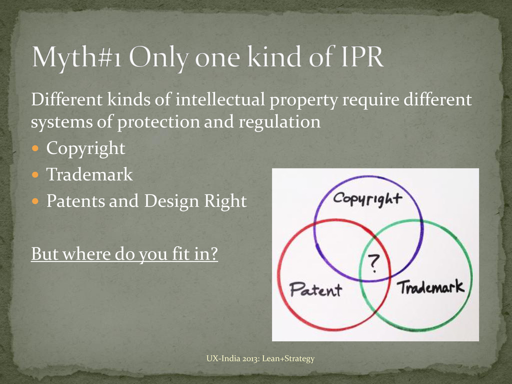 Different kinds of intellectual property requir...