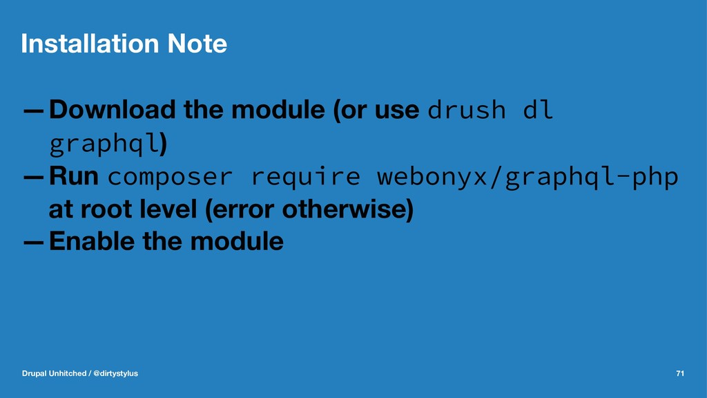 Installation Note —Download the module (or use ...