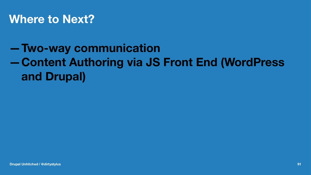 Where to Next? —Two-way communication —Content ...