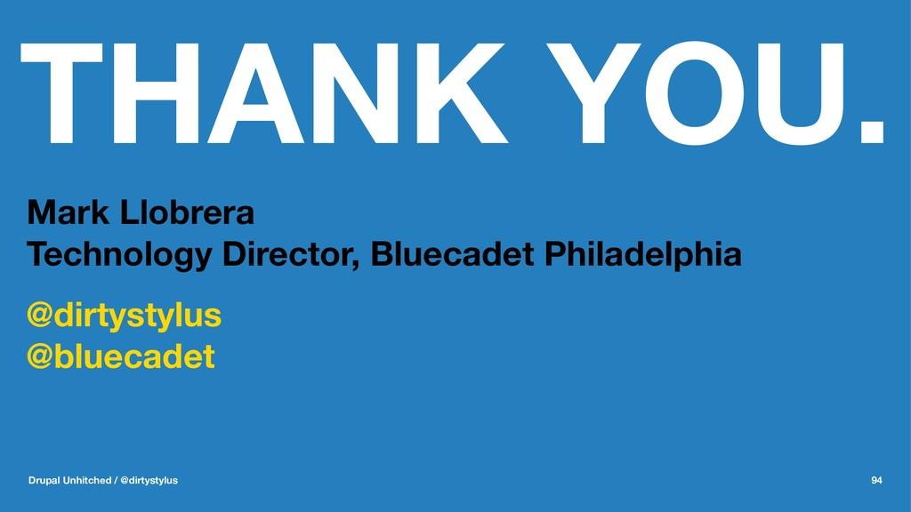 THANK YOU. Mark Llobrera Technology Director, B...