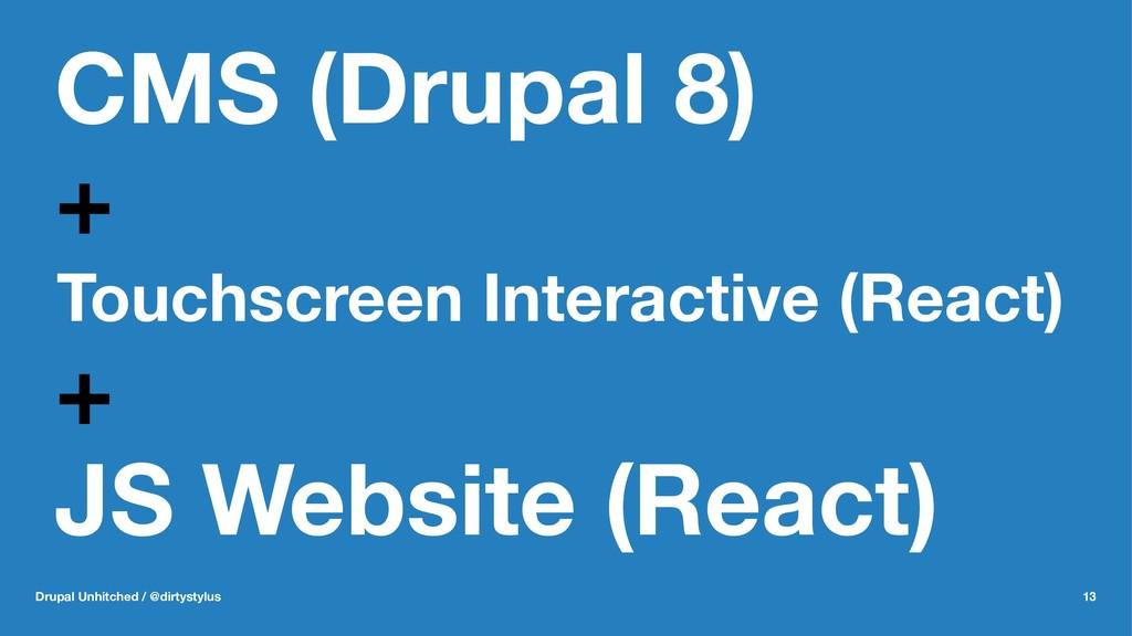 CMS (Drupal 8) + Touchscreen Interactive (React...