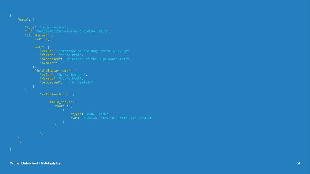 "{ ""data"": [ { ""type"": ""node--author"", ""id"": ""88..."