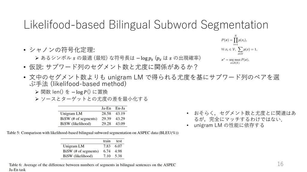 Likelifood-based Bilingual Subword Segmentation...