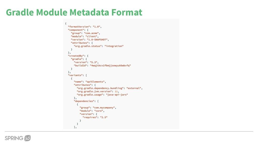 Gradle Module Metadata Format