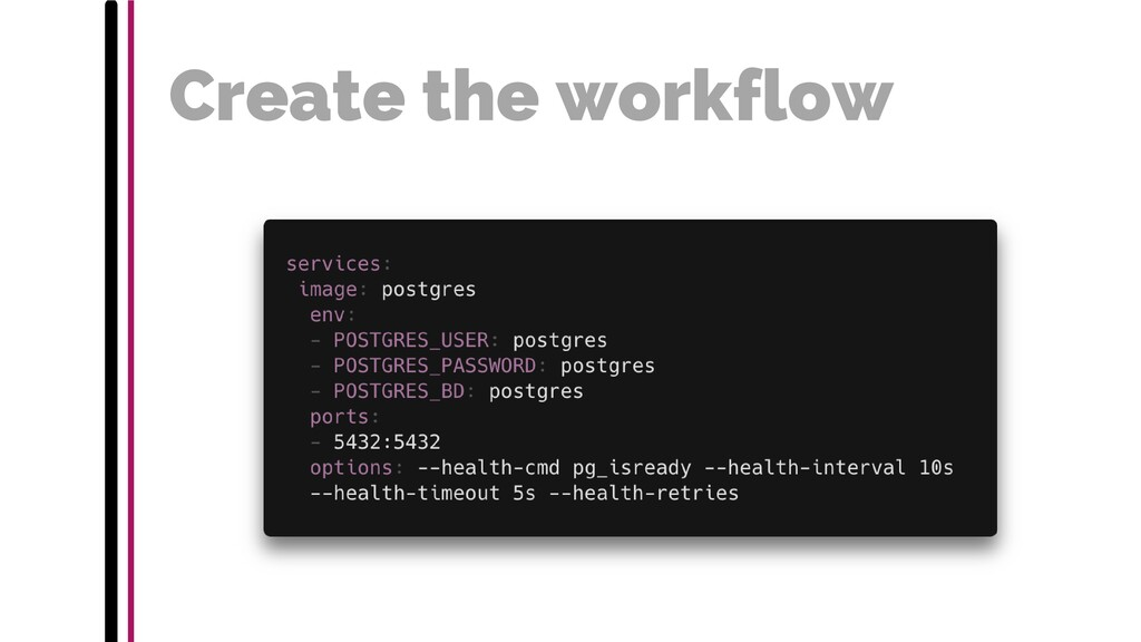 Create the workflow