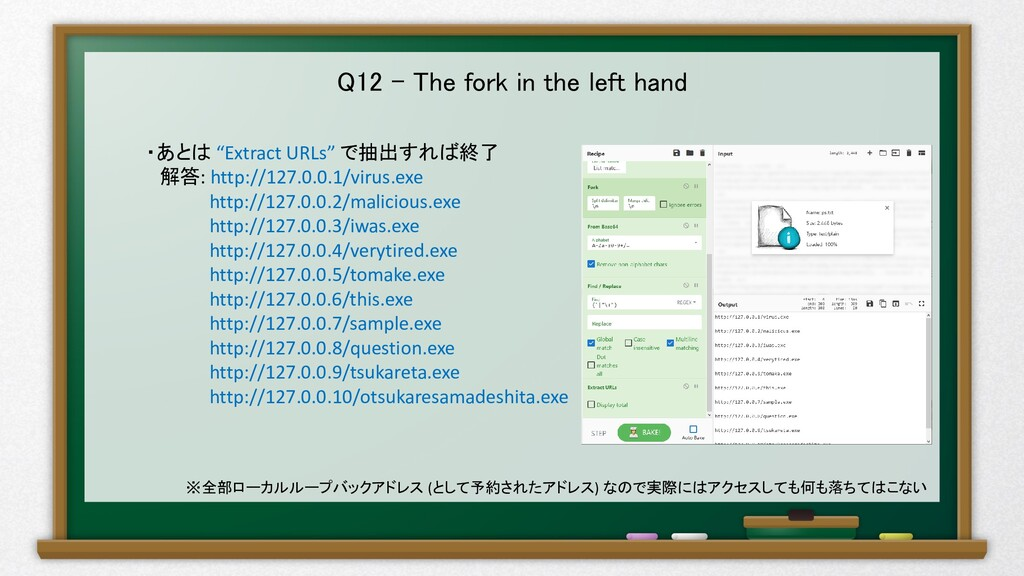 "Q12 – The fork in the left hand ・あとは ""Extract U..."