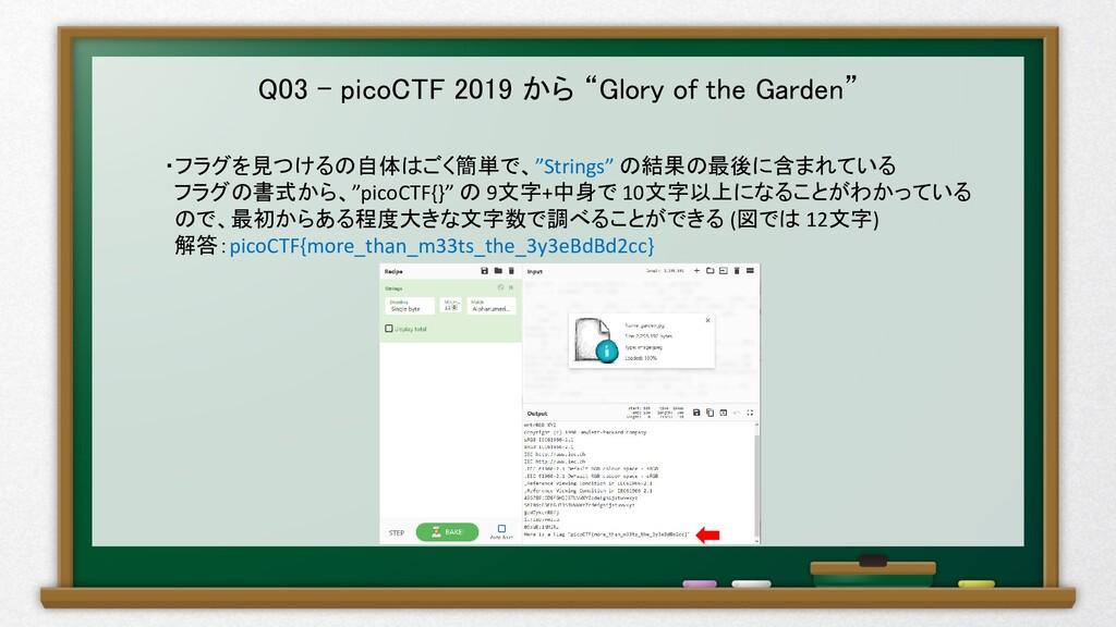 """Q03 – picoCTF 2019 から """"Glory of the Garden"""" ・フラ..."""