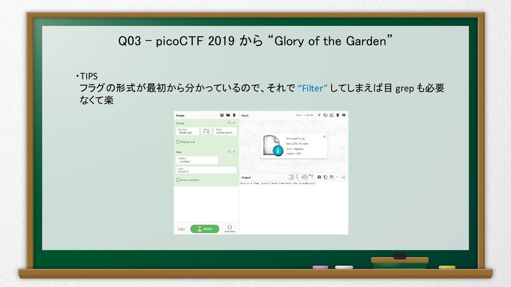 """Q03 – picoCTF 2019 から """"Glory of the Garden"""" ・TI..."""