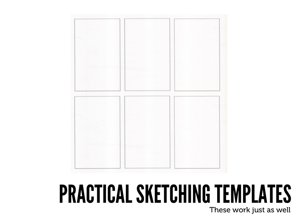 PRACTICAL SKETCHING TEMPLATES These work just a...