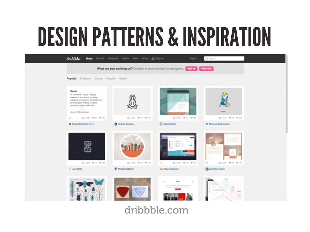 DESIGN PATTERNS & INSPIRATION dribbble.com