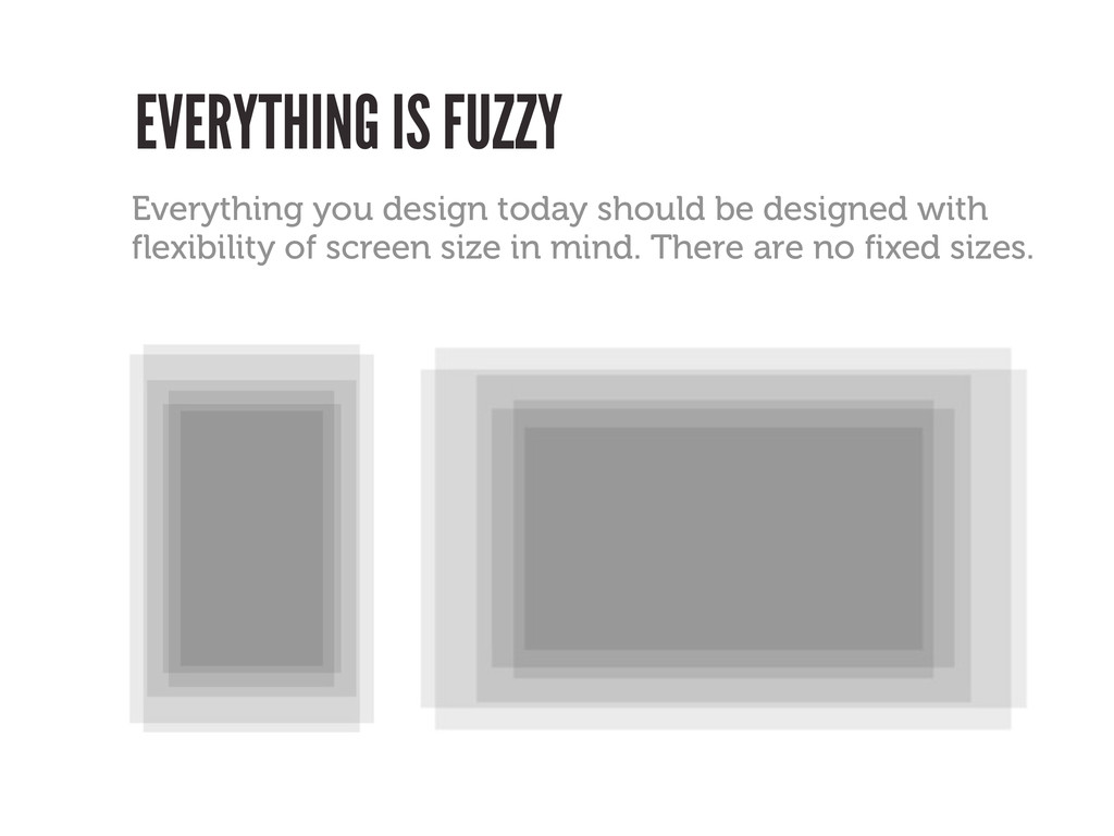 EVERYTHING IS FUZZY Everything you design today...