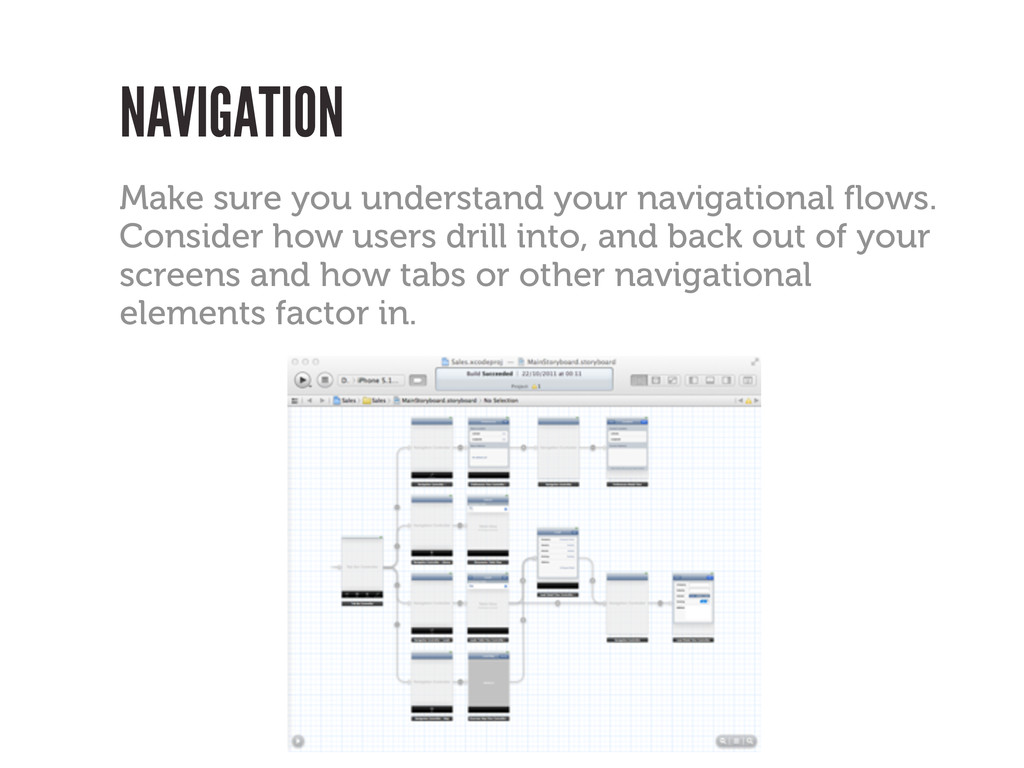 Make sure you understand your navigational flow...