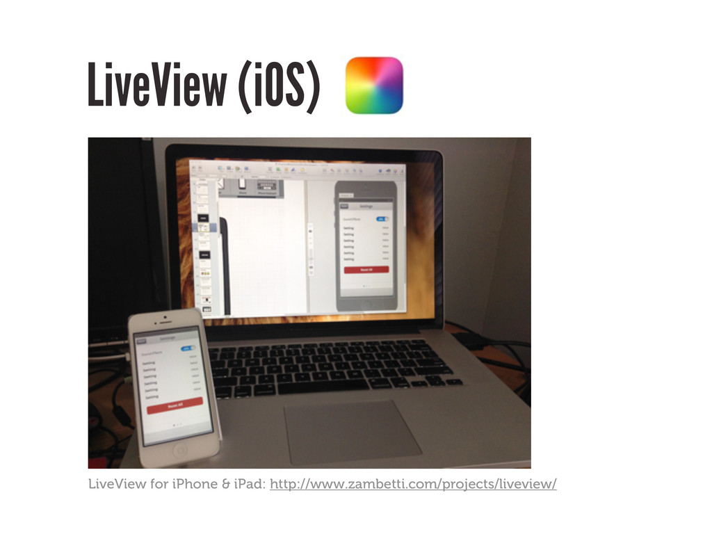 LiveView (iOS) LiveView for iPhone & iPad: http...