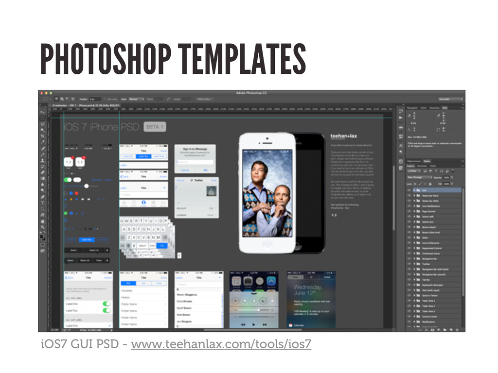 PHOTOSHOP TEMPLATES iOS7 GUI PSD - www.teehanla...