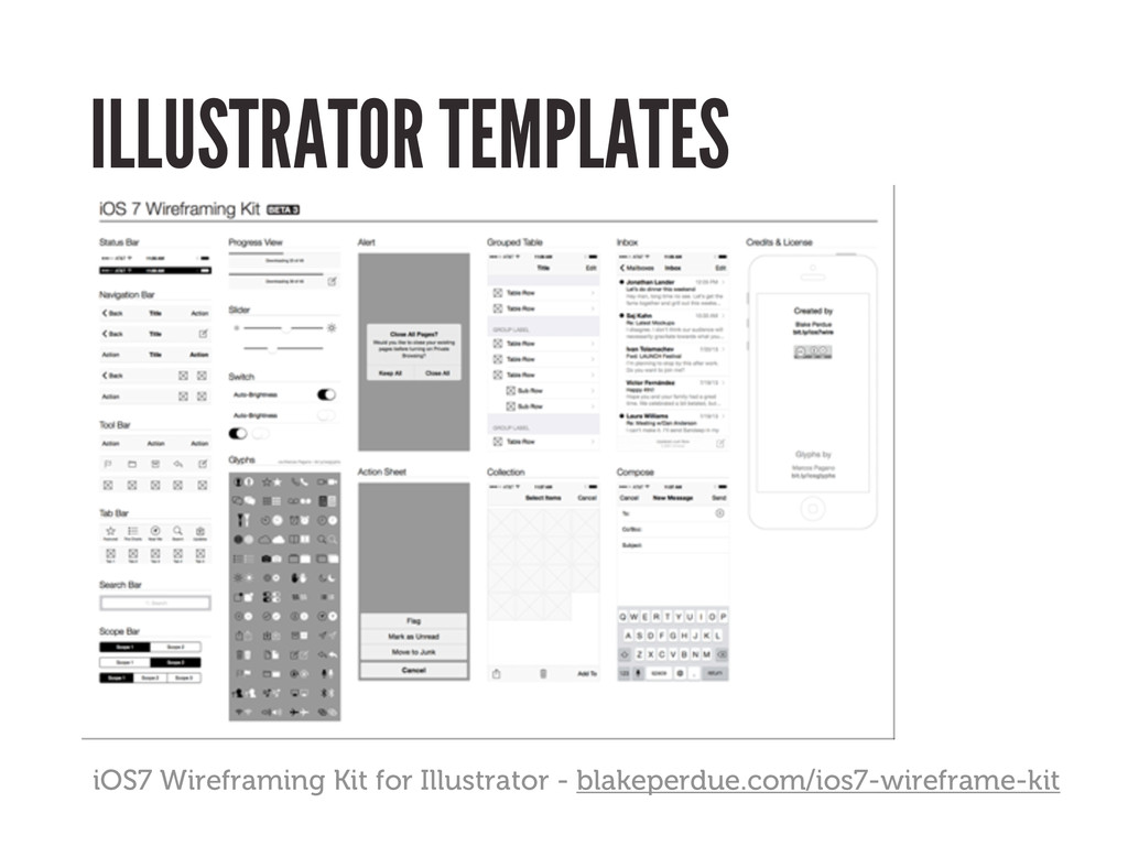 ILLUSTRATOR TEMPLATES iOS7 Wireframing Kit for ...