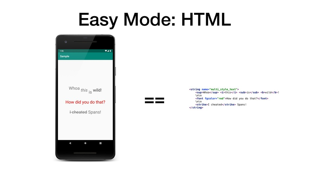 """Easy Mode: HTML <string name=""""multi_style_text""""..."""